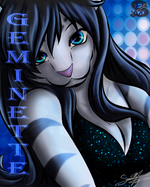 Geminette Badge tiger portrait by Samantha Lim (Sammacha)